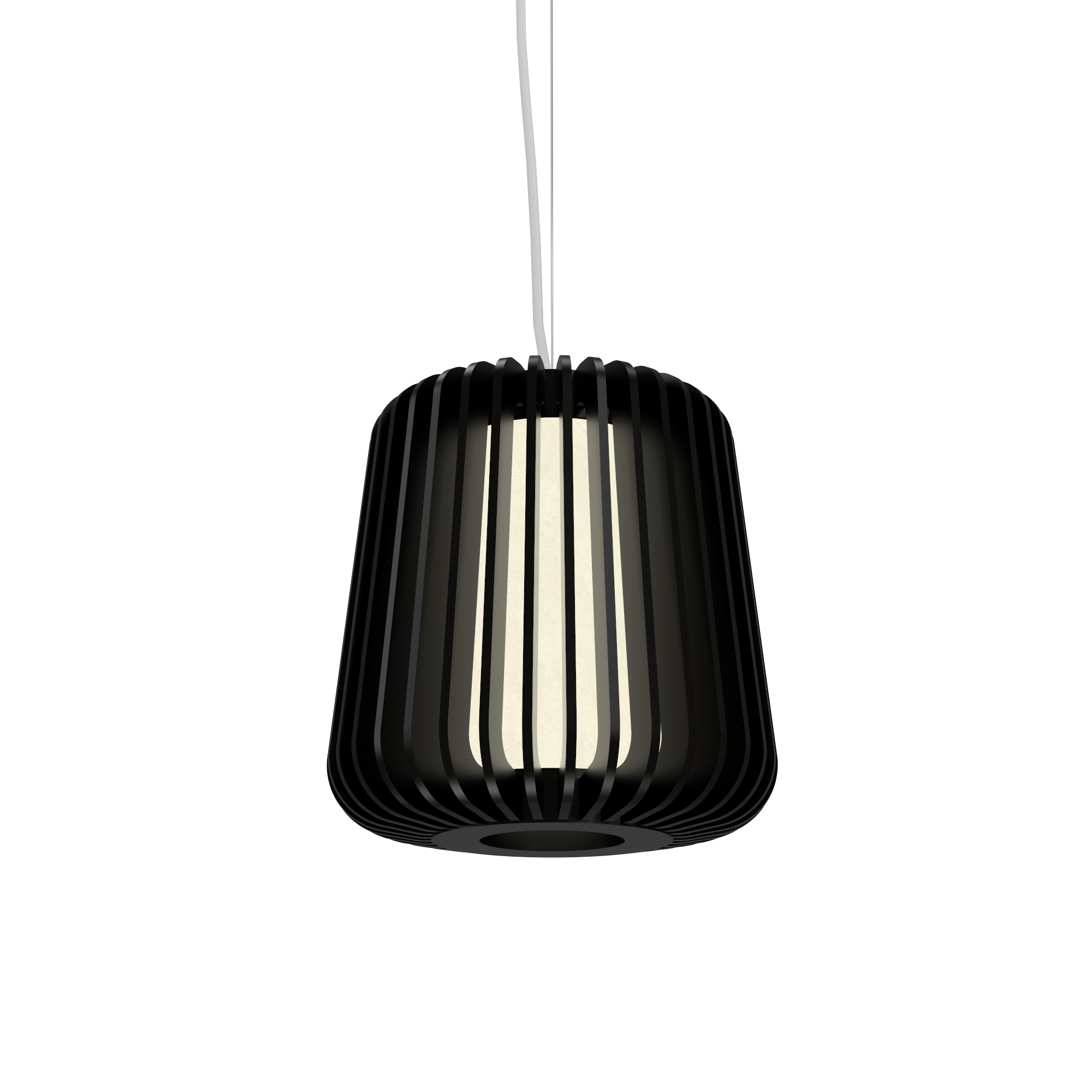Pendant Lamp Accord Stecche Di Legno 1426 - Stecche Di Legno Line Accord Lighting | 02. Matte Black