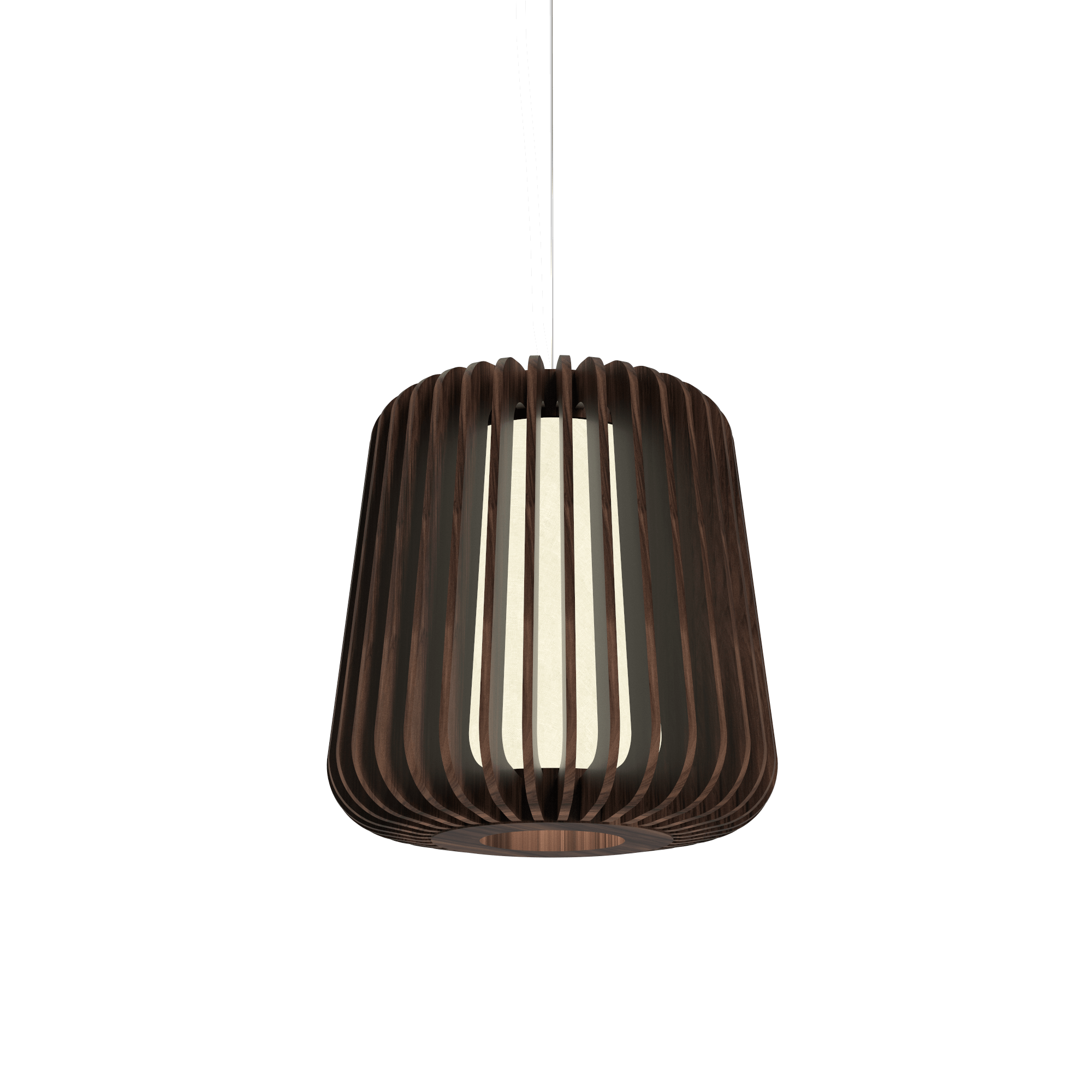 Pendant Lamp Accord Stecche Di Legno 1426 - Stecche Di Legno Line Accord Lighting | 18. American Walnut