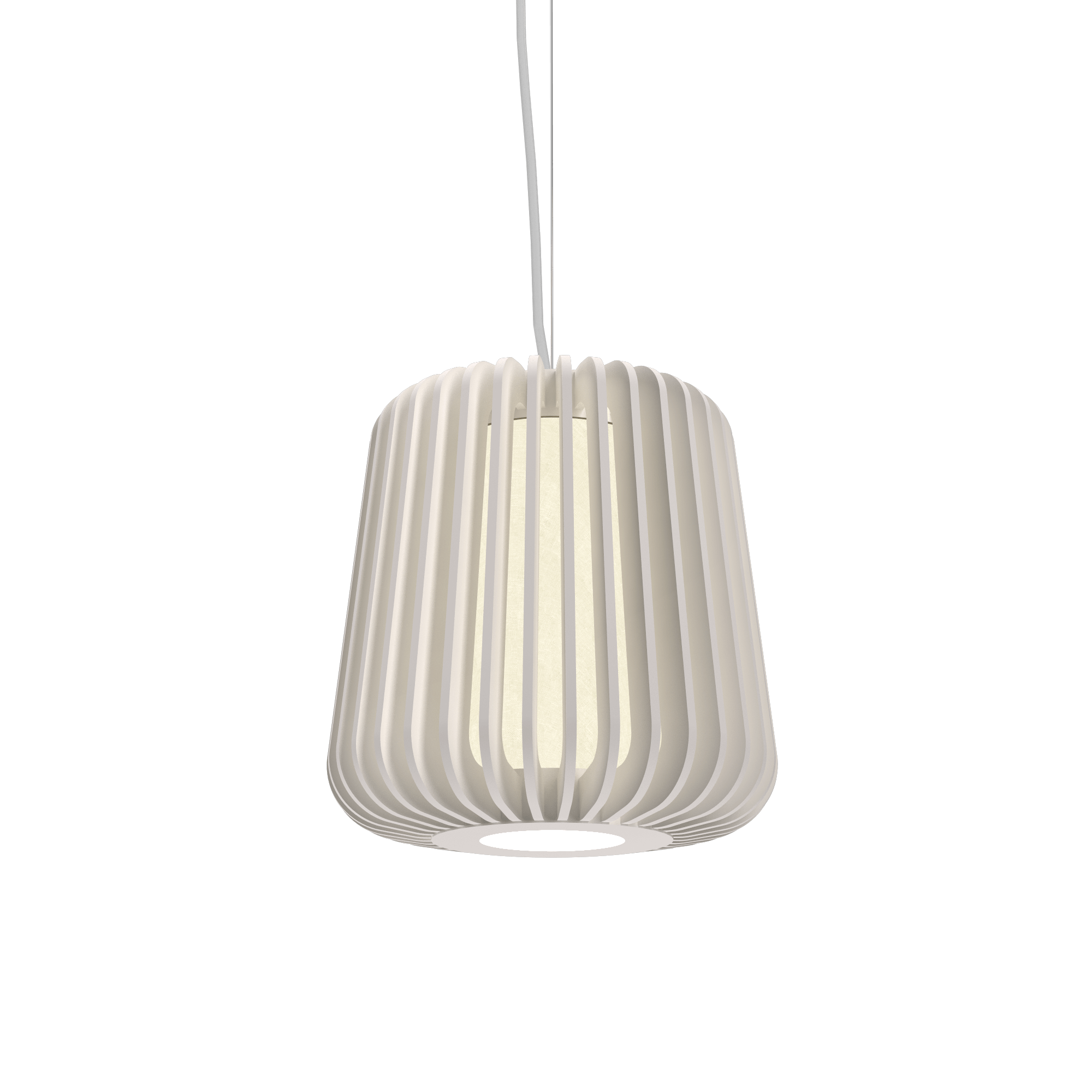Pendant Lamp Accord Stecche Di Legno 1426 - Stecche Di Legno Line Accord Lighting | 25. Iredescent White
