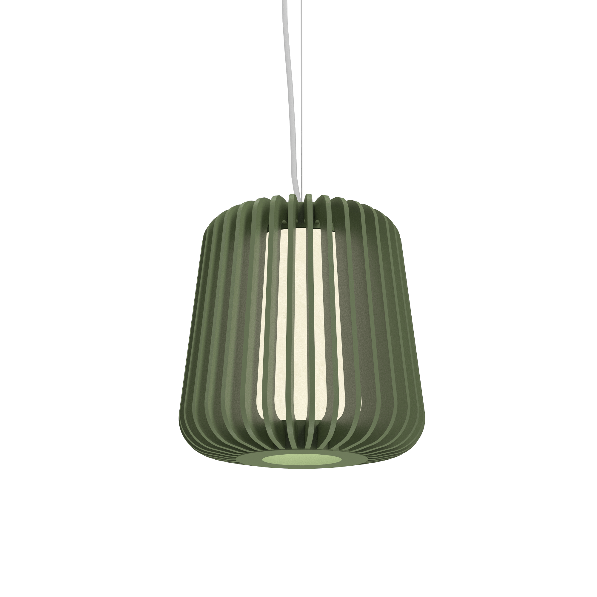 Pendant Lamp Accord Stecche Di Legno 1426 - Stecche Di Legno Line Accord Lighting | 30. Olive Green