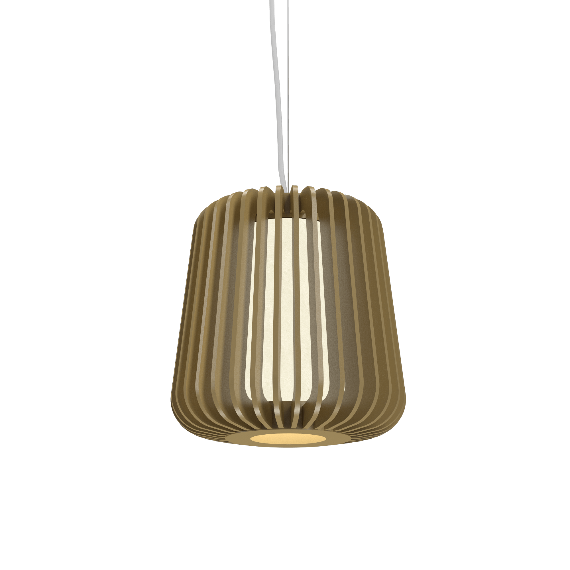 Pendant Lamp Accord Stecche Di Legno 1426 - Stecche Di Legno Line Accord Lighting | Pale Gold