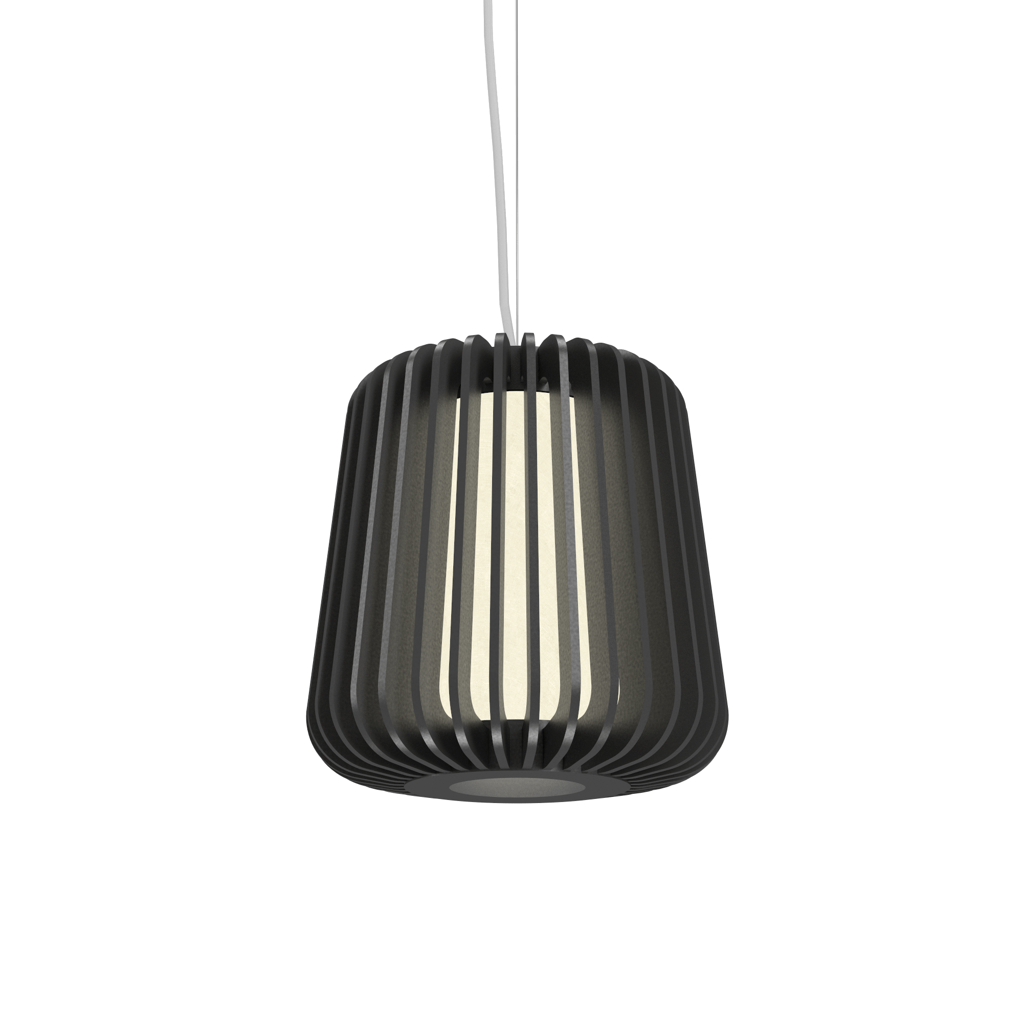 Pendant Lamp Accord Stecche Di Legno 1426 - Stecche Di Legno Line Accord Lighting | Lead Grey