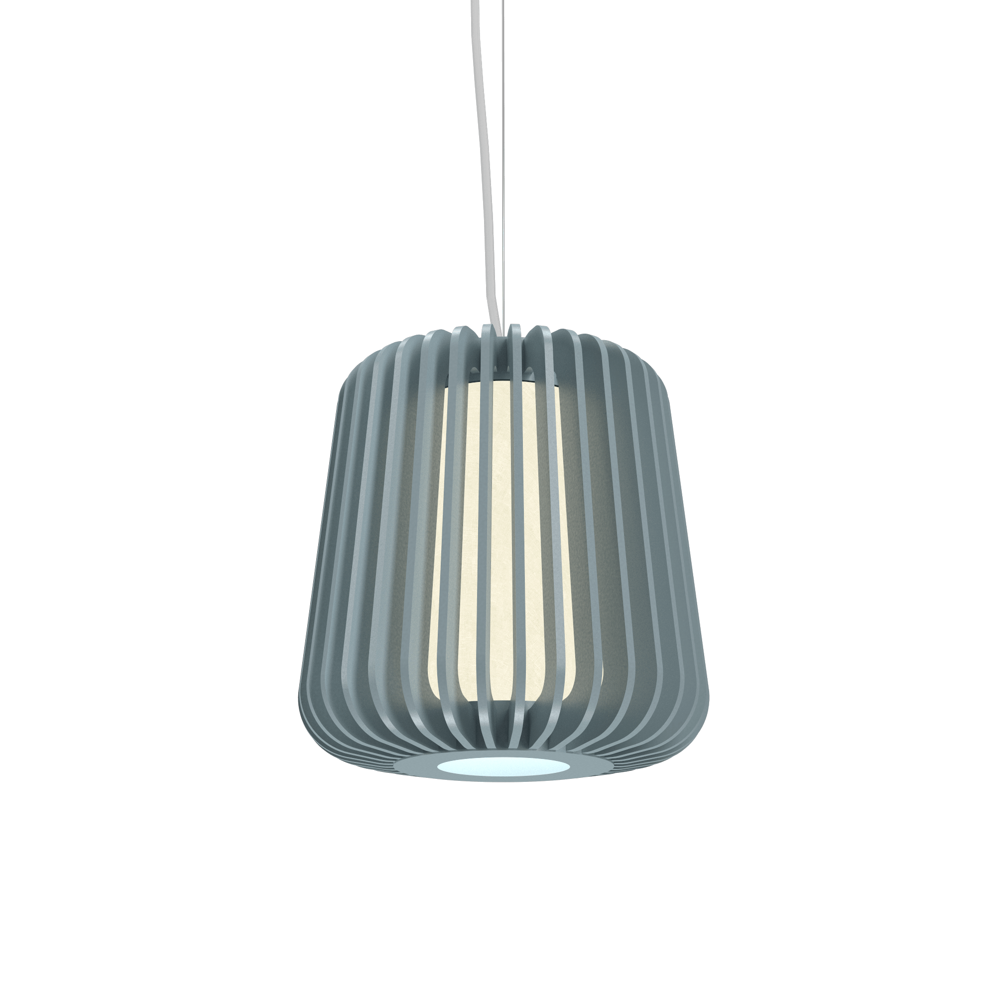 Pendant Lamp Accord Stecche Di Legno 1426 - Stecche Di Legno Line Accord Lighting | Satin Blue
