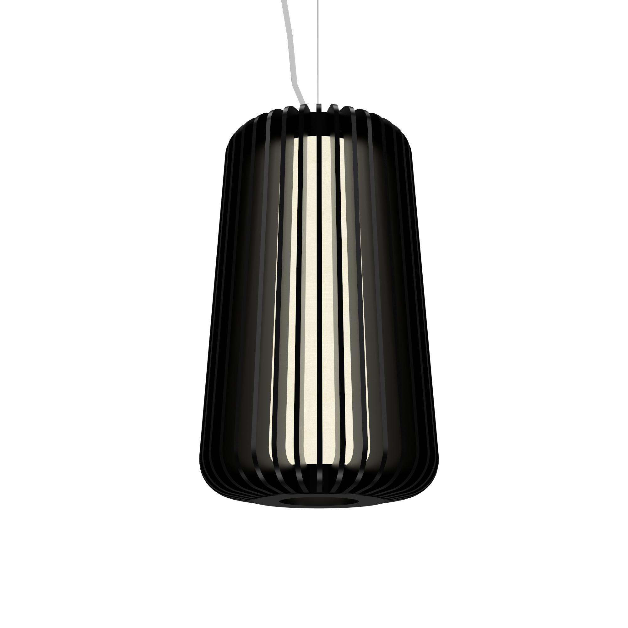 Pendant Lamp Accord Stecche Di Legno 1427 - Stecche Di Legno Line Accord Lighting | 02. Matte Black