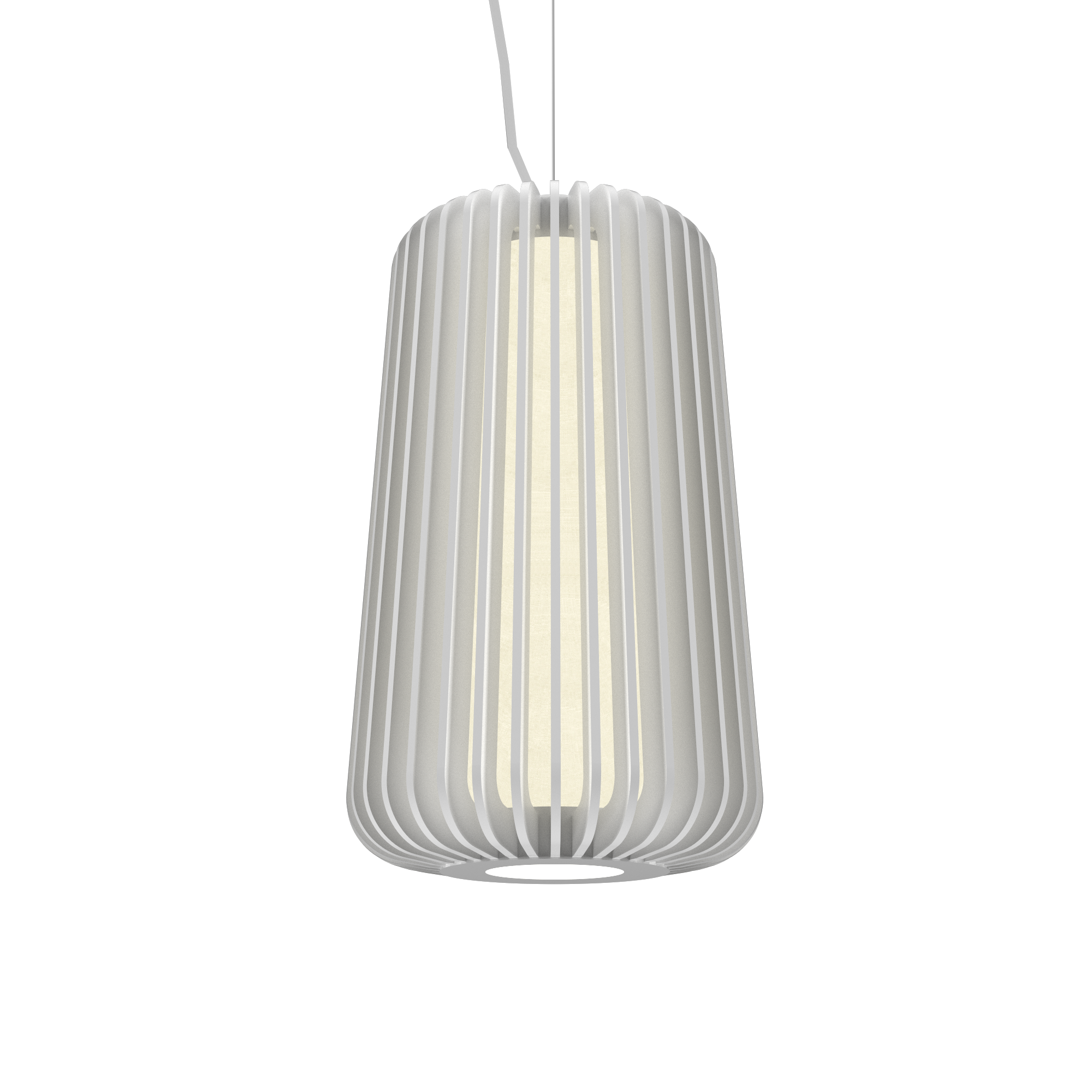 Pendant Lamp Accord Stecche Di Legno 1427 - Stecche Di Legno Line Accord Lighting | 07. White
