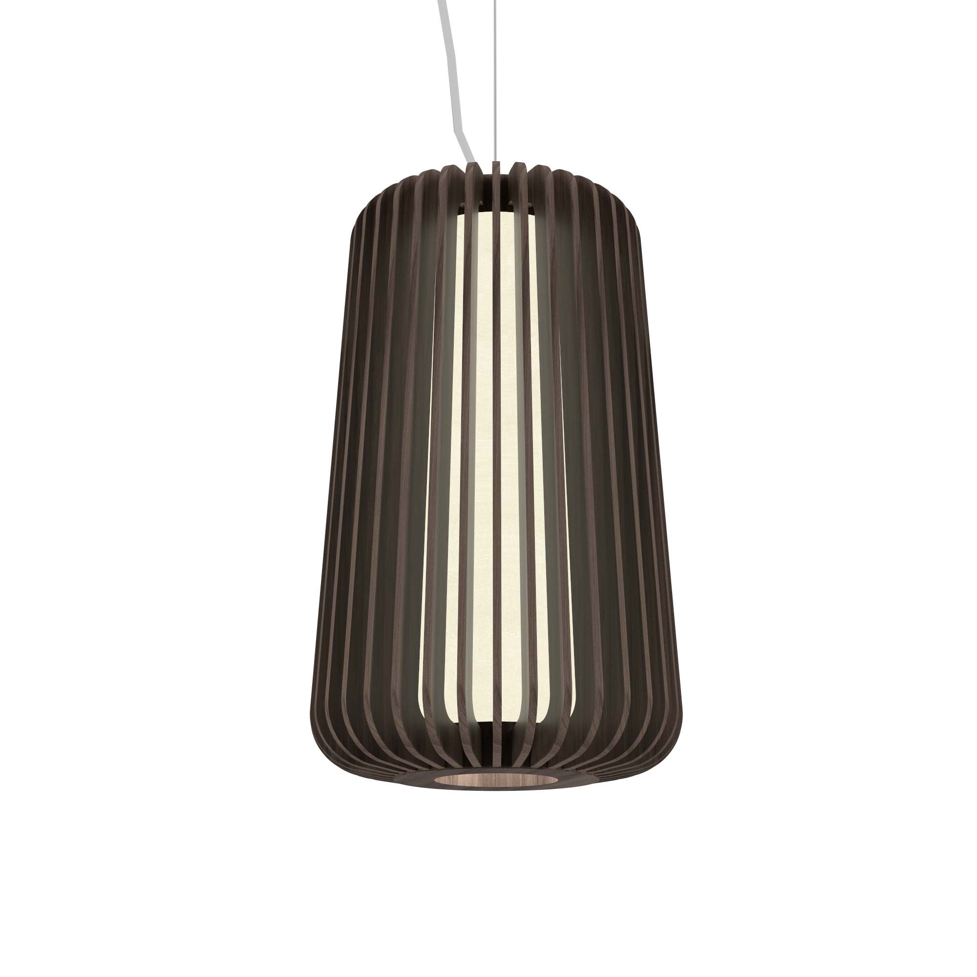 Pendant Lamp Accord Stecche Di Legno 1427 - Stecche Di Legno Line Accord Lighting | 18. American Walnut