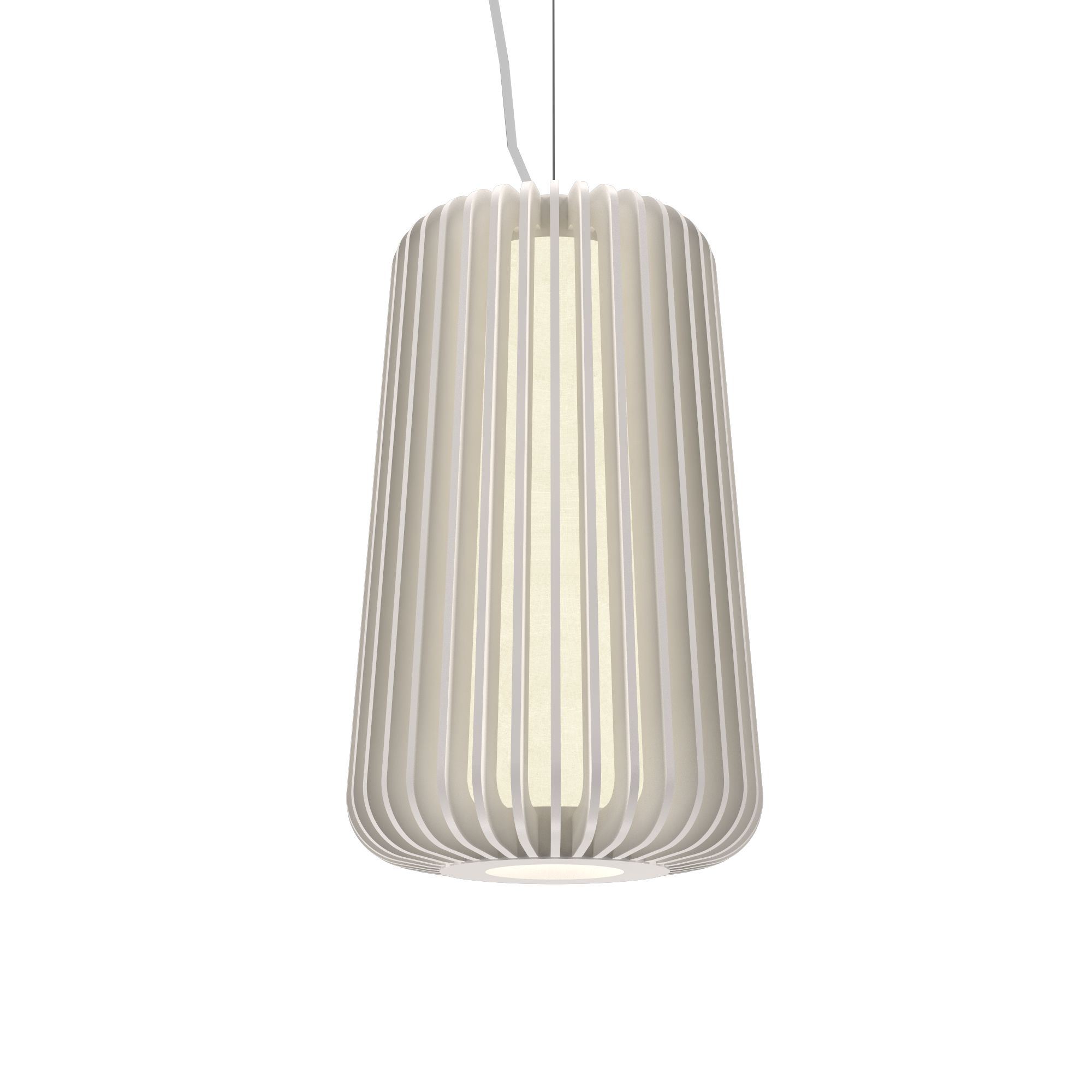 Pendant Lamp Accord Stecche Di Legno 1427 - Stecche Di Legno Line Accord Lighting | 25. Iredescent White