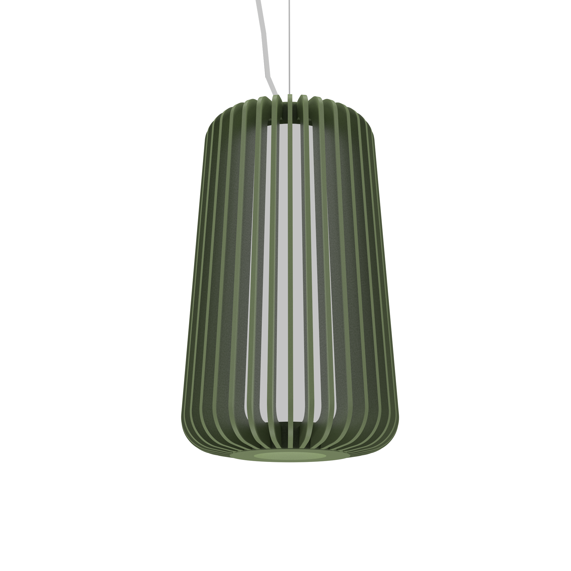 Pendant Lamp Accord Stecche Di Legno 1427 - Stecche Di Legno Line Accord Lighting | 30. Olive Green
