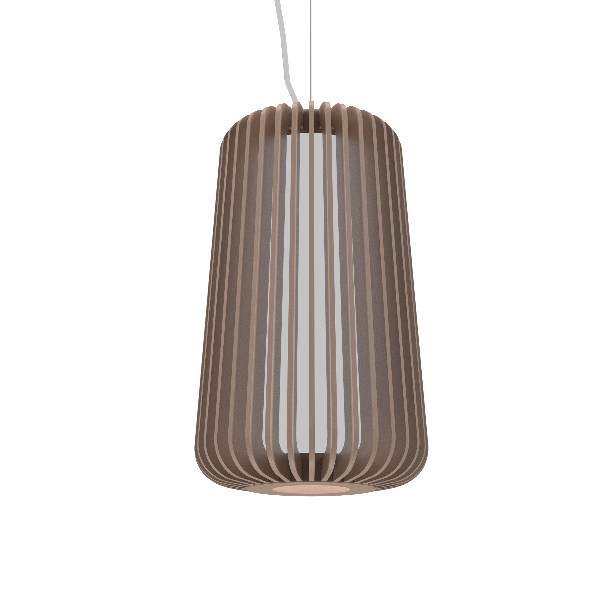 Pendant Lamp Accord Stecche Di Legno 1427 - Stecche Di Legno Line Accord Lighting | 33. Bronze