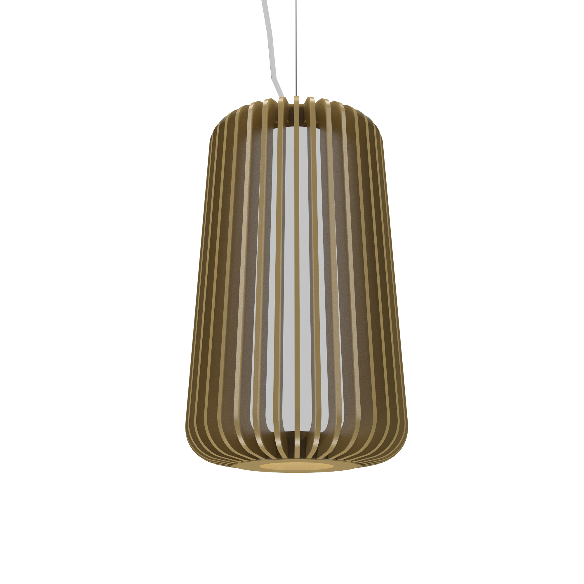 Pendant Lamp Accord Stecche Di Legno 1427 - Stecche Di Legno Line Accord Lighting | Pale Gold