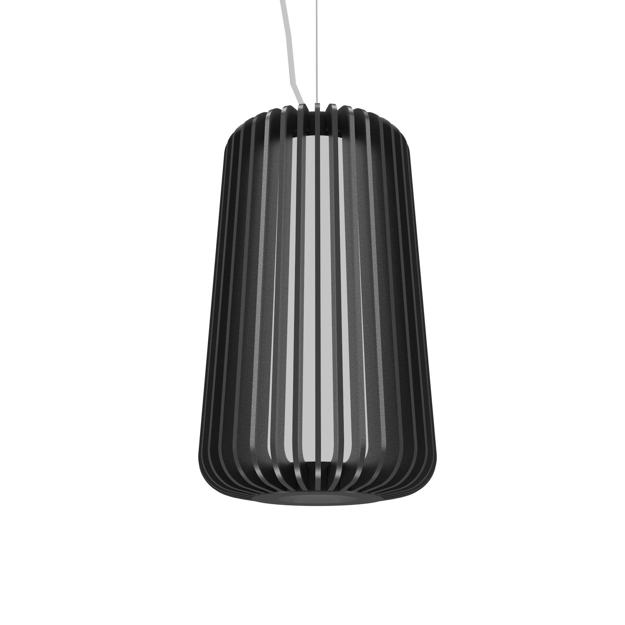 Pendant Lamp Accord Stecche Di Legno 1427 - Stecche Di Legno Line Accord Lighting | Lead Grey