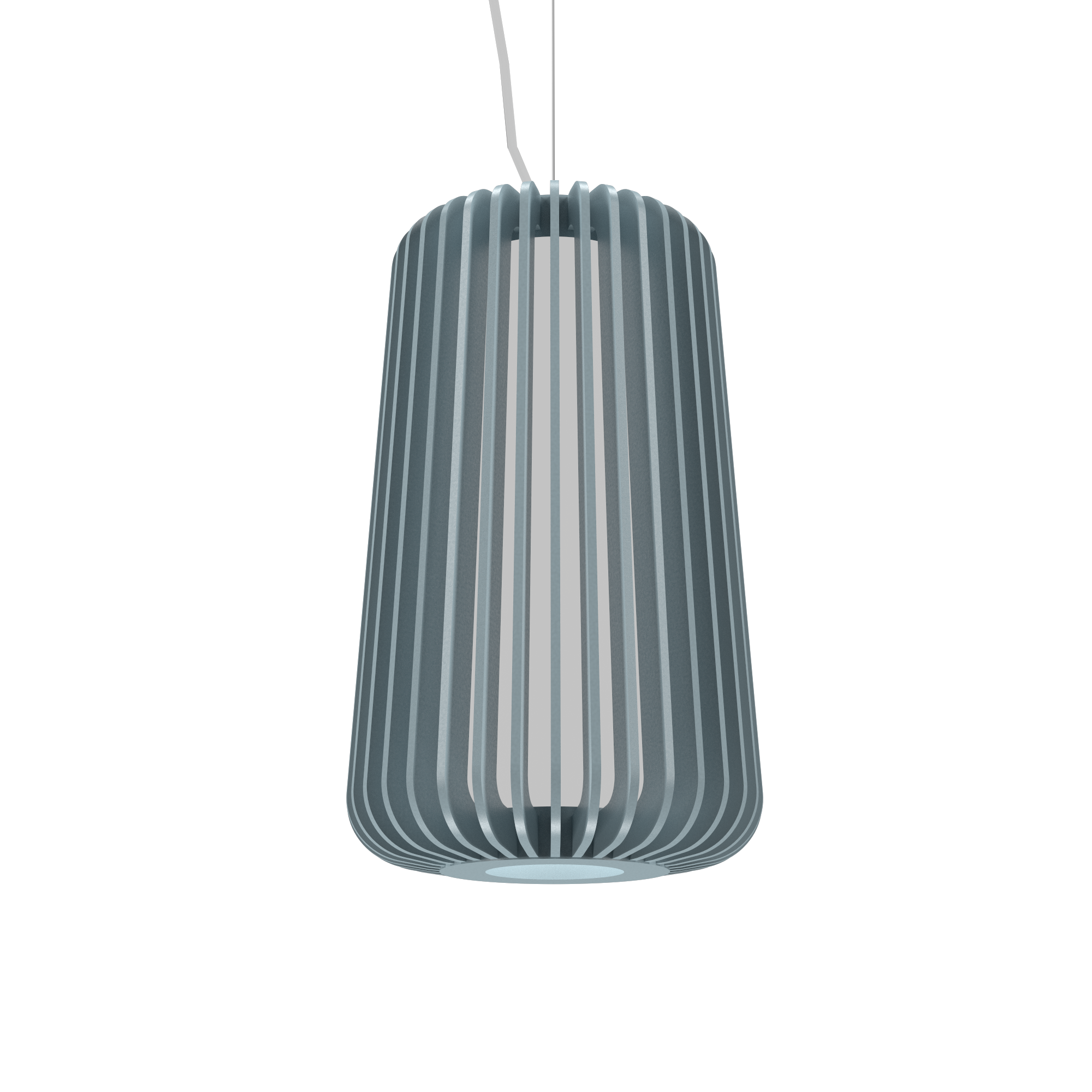 Pendant Lamp Accord Stecche Di Legno 1427 - Stecche Di Legno Line Accord Lighting | Satin Blue