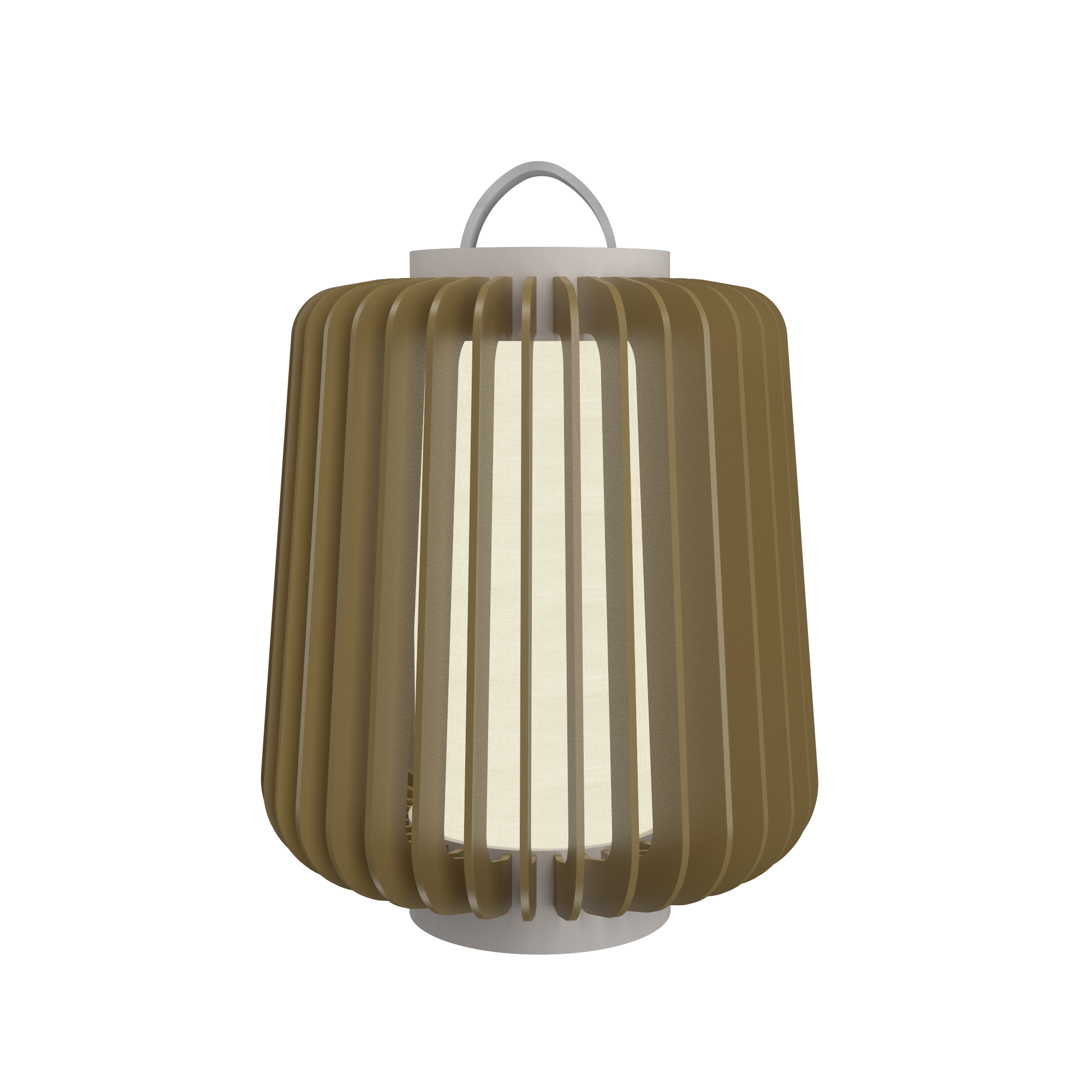 Floor Lamp Accord Stecche Di Legno 3035 - Stecche Di Legno Line Accord Lighting | Pale Gold