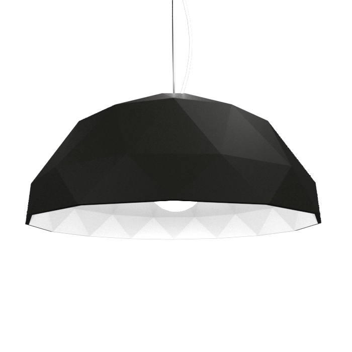 Pendant Lamp Accord Facetado 1290 - Facetada Line Accord Lighting | 02. Matte Black
