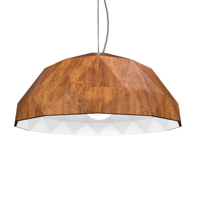Pendant Lamp Accord Facetado 1290 - Facetada Line Accord Lighting | 06. Imbuia