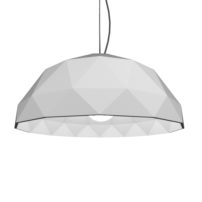 Pendant Lamp Accord Facetado 1290 - Facetada Line Accord Lighting | 07. White