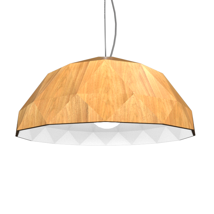 Pendant Lamp Accord Facetado 1290 - Facetada Line Accord Lighting | 09. Louro Freijó