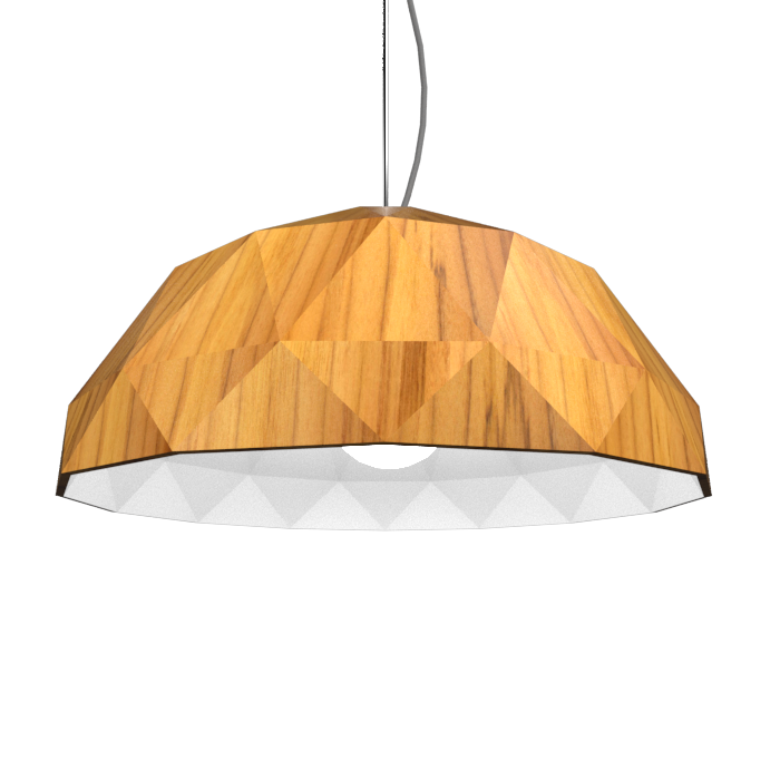 Pendant Lamp Accord Facetado 1290 - Facetada Line Accord Lighting | 12. Teak