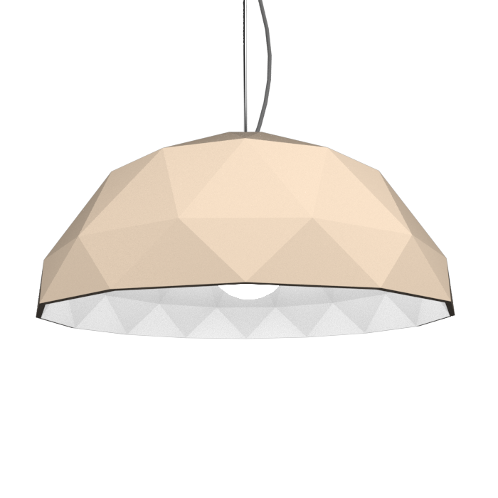 Pendant Lamp Accord Facetado 1290 - Facetada Line Accord Lighting | 15. Cappuccino