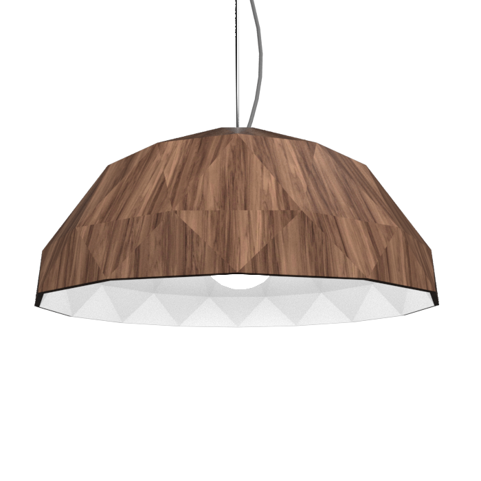 Pendant Lamp Accord Facetado 1290 - Facetada Line Accord Lighting | 18. American Walnut