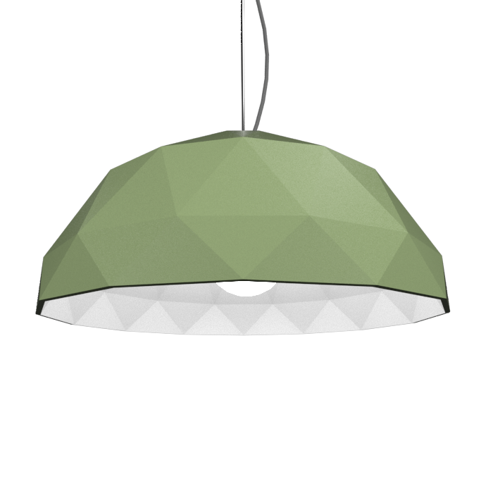 Pendant Lamp Accord Facetado 1290 - Facetada Line Accord Lighting | 30. Olive Green