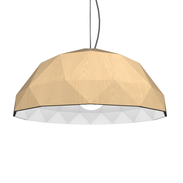 Pendant Lamp Accord Facetado 1290 - Facetada Line Accord Lighting | 34. Maple