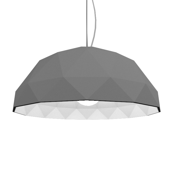 Pendant Lamp Accord Facetado 1290 - Facetada Line Accord Lighting | Lead Grey