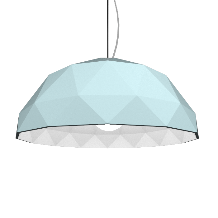 Pendant Lamp Accord Facetado 1290 - Facetada Line Accord Lighting | Satin Blue
