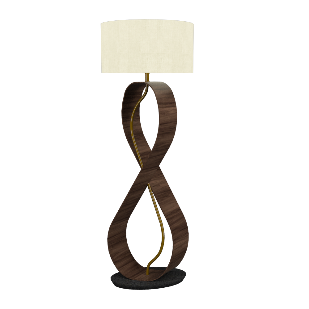 Floor Lamp Infinito 3016 - InfinitoLine Accord Lighting | 18. American Walnut