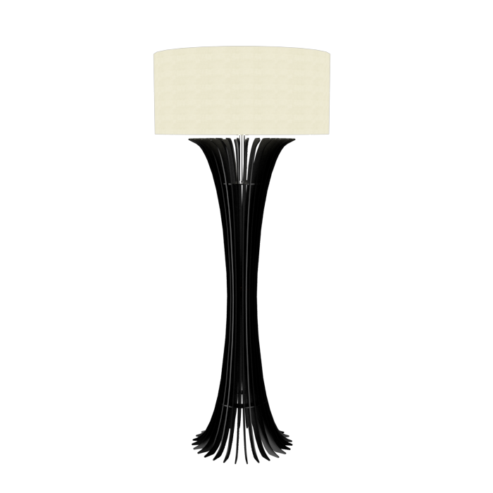 Floor Lamp Accord Stecche Di Legno 363 - Stecche Di Legno Line Accord Lighting | 02. Matte Black