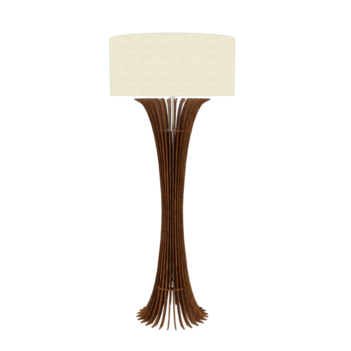 Floor Lamp Accord Stecche Di Legno 363 - Stecche Di Legno Line Accord Lighting | 06. Imbuia