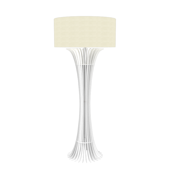 Floor Lamp Accord Stecche Di Legno 363 - Stecche Di Legno Line Accord Lighting | 07. White