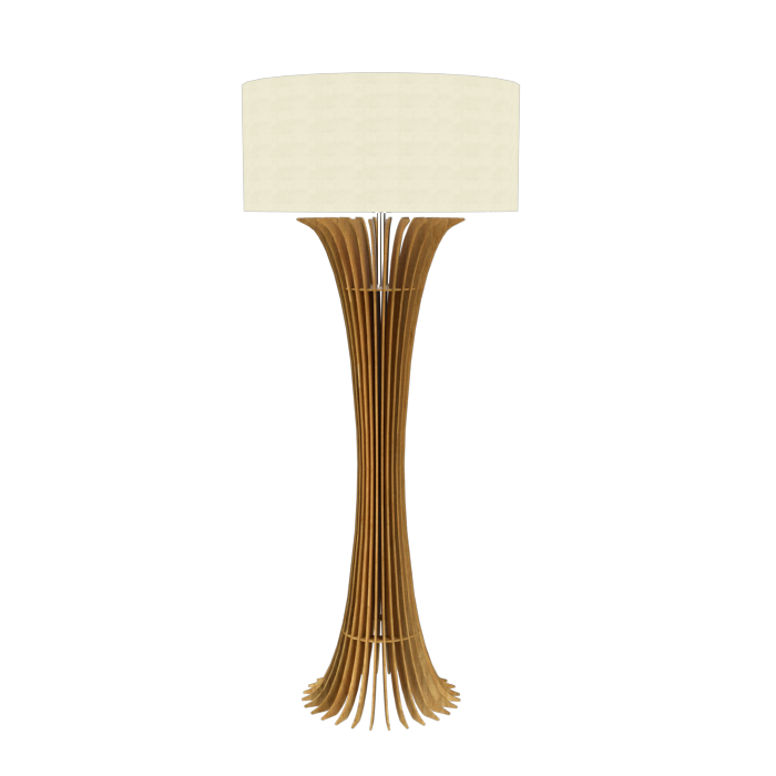 Floor Lamp Accord Stecche Di Legno 363 - Stecche Di Legno Line Accord Lighting | 09. Louro Freijó