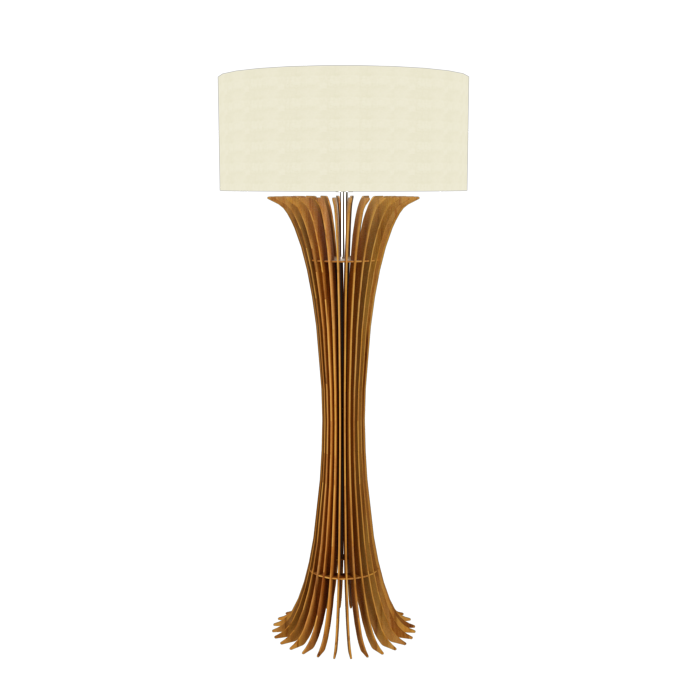 Floor Lamp Accord Stecche Di Legno 363 - Stecche Di Legno Line Accord Lighting | 12. Teak