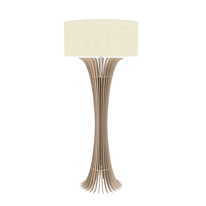 Floor Lamp Accord Stecche Di Legno 363 - Stecche Di Legno Line Accord Lighting | 15. Cappuccino