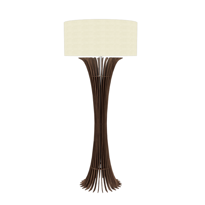 Floor Lamp Accord Stecche Di Legno 363 - Stecche Di Legno Line Accord Lighting | 18. American Walnut