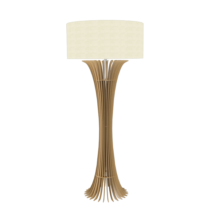 Floor Lamp Accord Stecche Di Legno 363 - Stecche Di Legno Line Accord Lighting | 27. Gold