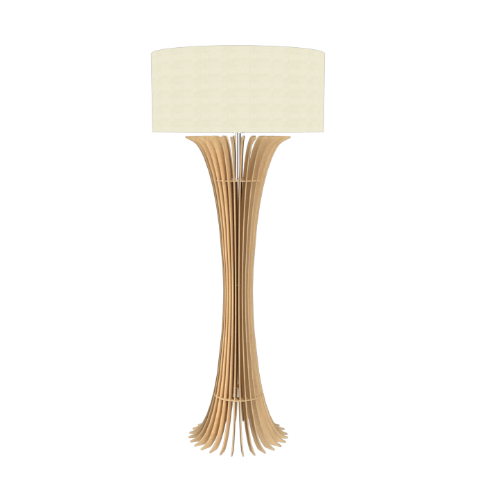 Floor Lamp Accord Stecche Di Legno 363 - Stecche Di Legno Line Accord Lighting | 34. Maple