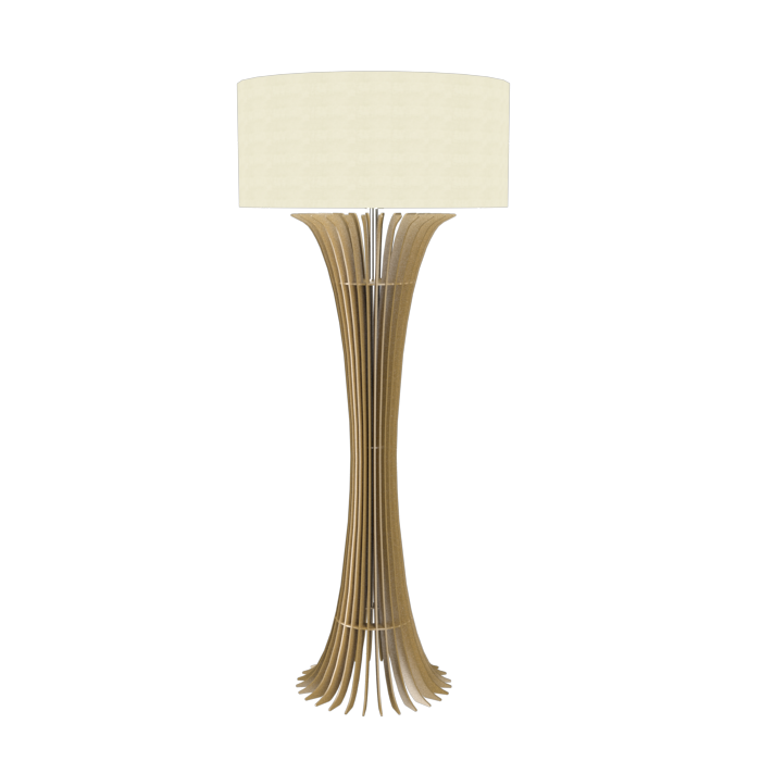 Floor Lamp Accord Stecche Di Legno 363 - Stecche Di Legno Line Accord Lighting | Pale Gold