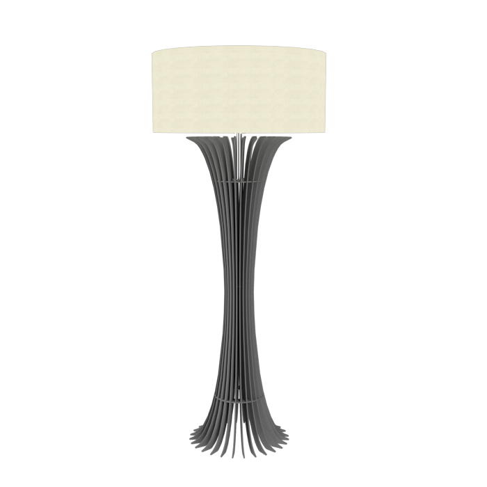 Floor Lamp Accord Stecche Di Legno 363 - Stecche Di Legno Line Accord Lighting | Lead Grey