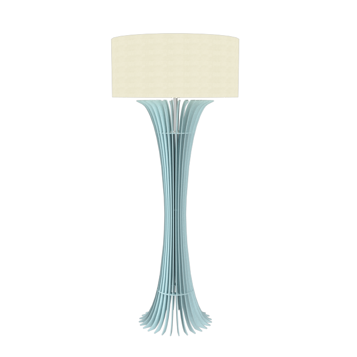Floor Lamp Accord Stecche Di Legno 363 - Stecche Di Legno Line Accord Lighting | Satin Blue
