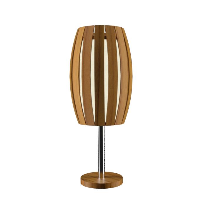 Table Lamp Accord Barril 7011 - Barril Line Accord Lighting | 12. Teak