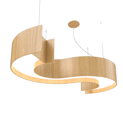 Pendant Lamp Accord Spy 1062 - Orgânica Line Accord Lighting | 09. Louro Freijó