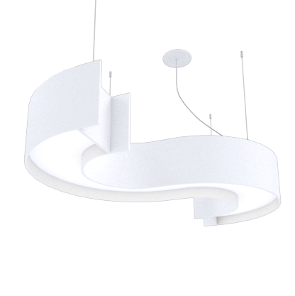Pendant Lamp Accord Spy 1062 - Orgânica Line Accord Lighting | 25. Iredescent White